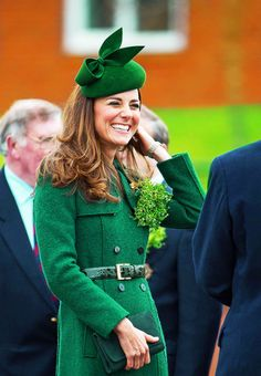 Duchess of Cambridge, St. Patrick's Day 2014...HRH seems to become more and more lovely all the time!  She certainly smiles and seems so happy!