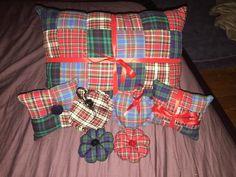 Tartan handmade cushion collection