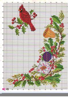 123 Cross Stitch, Santa Cross Stitch, Cross Stitch Numbers, Cross Stitch Boards, Cross Stitch Animals, Counted Cross Stitch Patterns, Cross Stitch Embroidery, Christmas Charts, Cross Stitch Christmas Ornaments