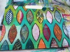 ellen vargo ... ten thirty-six art: Painted Collage File Folder Tutorial
