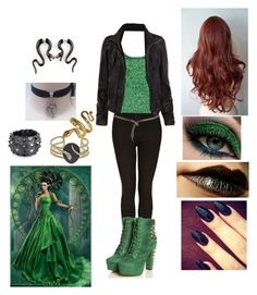 """""""Envy/Rosalie ~ Going to the village and ruining people's happy lives"""" by ticcitobydreams ❤ liked on Polyvore featuring Topshop, Isharya, Bling Jewelry, P.A.R.O.S.H. and AllSaints"""