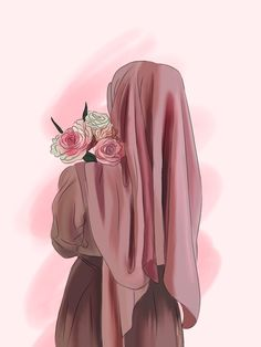Cute Muslim Couples, Muslim Girls, Muslim Women, Muslim Photos, Anime Muslim, Hijab Cartoon, Profile Picture For Girls, Islamic Girl, Hijabi Girl