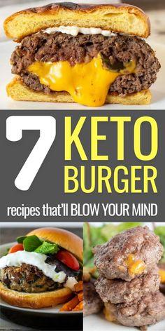 Keto Burger, Burger Recipes, Beef Recipes, Healthy Recipes, Ketogenic Recipes, Ketogenic Diet, Butter Burgers, Keto Mushrooms, Paleo Cookbook