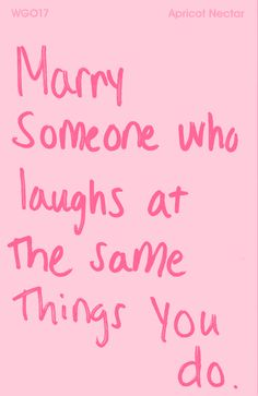 love & laughter ;) <3