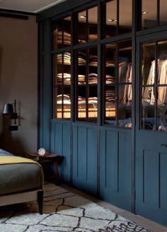 Deep Blue walk-in wardrobe - Plain English Design