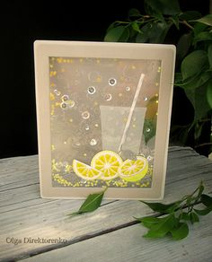 Today's project is a summer card with a clear shaker window.    I have used a variety of shiny textures and materials to create a feeling o...