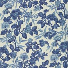MALDIVE FLORAL CHINA BLUE