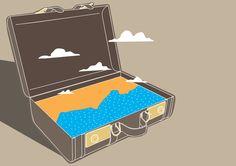 Californication illustration - All content copyright 2016, Federico Gastaldi. All rights reserved. , tv series, california, trip, journey, luggage, travel, sun, sea, federico gastaldi, SalzmanArt.com