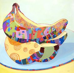 All About Bananas - painting by Carolee Clark