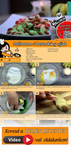 The spooky Halloween witches' fingers recipe that will surely make for an amazing and memorable party food! You can easily find the recipe by scanning the QR code in the top right corner! Halloween Buffet, Halloween Witches, Make Your Own Cookbook, Easter Cake Pops, Fruit Gums, Party Buffet, Snacks, Recipe Cards, Diy Food
