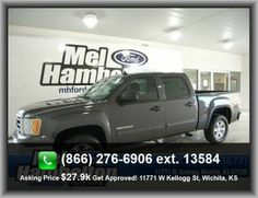 2011 GMC Sierra 1500 SLE Pickup  Passenger And Rear, Heated Driver Mirror, Variable Intermittent Front Wipers, Tires: Profile: 70, Metal-Look Door Trim, Wheel Width: 7.5, Abs And Driveline Traction Control, Metal-Look Dash Trim, Passenger Airbag, Cruise Control,