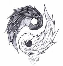 Image result for paint yin yang tattoo