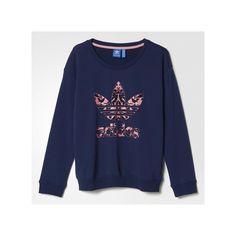 adidas Baroque Logo Sweatshirt ($42) ❤ liked on Polyvore featuring tops, hoodies, sweatshirts, adidas sweatshirt, adidas tops, pattern tops, sweater pullover and logo tops