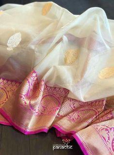 Kora silk benarae with silver and golden buti Kora Silk Sarees, Indian Silk Sarees, Banarasi Sarees, Sari Silk, Bridal Silk Saree, Organza Saree, Cotton Saree, Pattu Sarees Wedding, Golden Saree