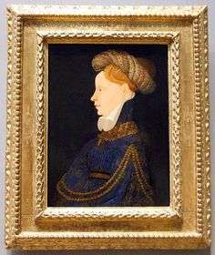 Franco-Flemish Profile Portrait of a Lady // National Gallery