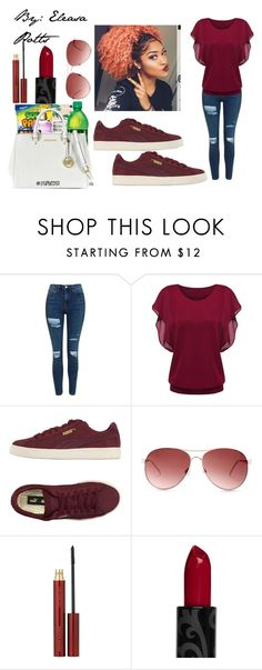 """Untitled #61"" by eleasapotts123 on Polyvore featuring Topshop, Puma, Steve Madden and Kevyn Aucoin"