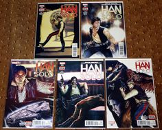 STAR WARS HAN SOLO 1-5 1 2 3 4 5 FIRST PRINTINGS 2016 MARVEL CHEWBACCA LEIA FORD