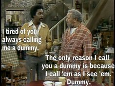 sanford and son quotes Sarcastic Humor, Funny Jokes, Hilarious, Funny Shit, Sarcasm, Adult Comedy, Comedy Tv, 1970s Tv Shows, Old Tv Shows