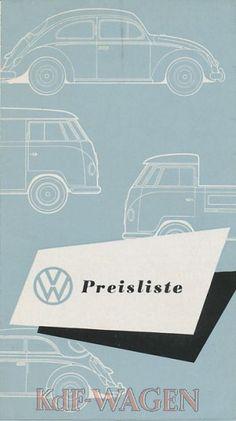 VW - 1957 - VW Preisliste. Stand 1.9.1957 - w 2/53 - [8352]-1