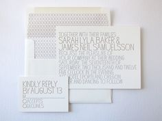 love the simplicity. #invites #letterpress  #wedding