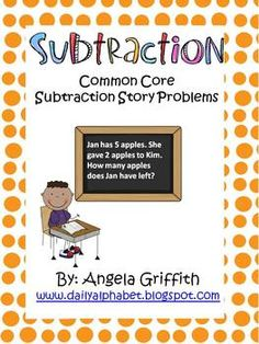 This packet is great for beginning subtraction skills. It allows students to solve subtraction story problems, and also gets them acclimated to sho...