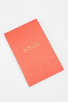 Great Ideas (plus some okay ones) notepad