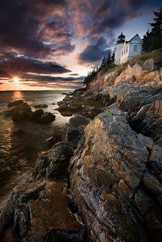 Bass Harbor Head Light,Maine by Brettc.deviantart.com on @deviantART