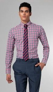 Indochino – The Ultimate Gray, Purple & White Check Shirt *** Why ...