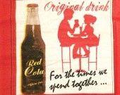 """♥Serviette papier Déco cuisine/pub/vintage- """"Red Cola"""" USA : Serviettage, Décopatch par comptoir-p-titsanges sur ALittleMercerie"""
