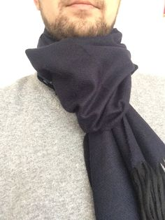 Dark blue wool shawls , wool shawls, Men's accessories, Men's clothing, blue scarf, blue wraps, suit accessory, Christmas gift, for him by FeltFabrica on Etsy