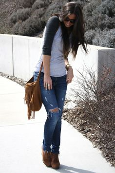 replace the shoes with either converse or toms and a black studded bag.