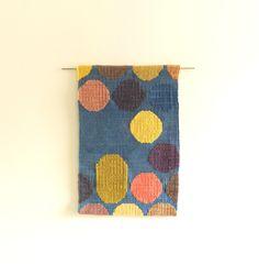 Natural dye tapestry sampler woven on my Mirrix loom
