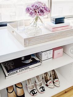 bookshelf for shoes :)