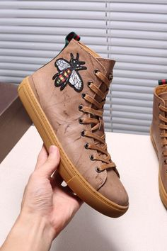 41f85aba8825 Replica GUCCI Leather High-Top Sneaker With Butterfly Size 38-44 ID 31434   0  97.30