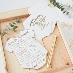 Oh Baby Advice Cards for the perfect gender neutral baby shower. Baby Shower Games to beautifully complement our Oh Baby Baby Shower party range. Idee Baby Shower, Baby Shower Advice, Shower Bebe, Baby Shower Games, Shower Ideas, Baby Shower Table Set Up, Baby Shower Guest Gifts, Shower Gifts, Baby Showers