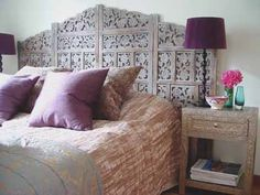 This Moroccan headboard is amazing, trying to recreate this in my room currently.
