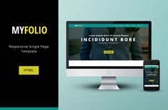Free #download: MyFolio #Responsive Single Page HTML/CSS #Template via OmahPSD.com