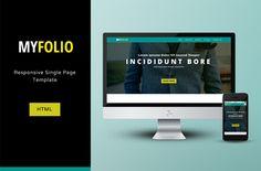 Free #download: MyFolio #Responsive Single Page HTML/CSS #Template via OmahPSD.com