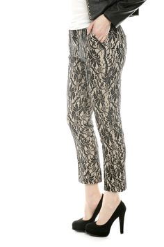 Lace Overlay Pants