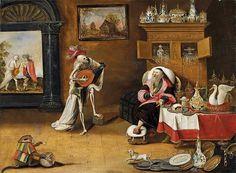 AnonymousDescription  Vanitas-Darstellung. Flandern, 17. Jahrhundert.  Date17thcenturyMediumÖl auf Leinwand.Dimensions52 x 71 cm