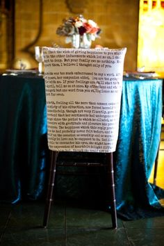 chair covers, book decor, book pages, librari, chair backs, seat covers, belle, literari seat, literary quotes