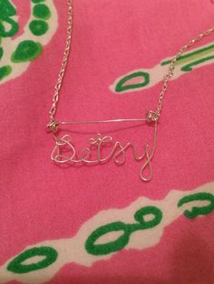 Custom Name Necklace by TwoCraftingChicks on Etsy