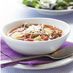 5-Ingredient Soups | Turkey Sausage-Gnocchi Soup | CookingLight.com