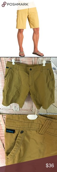 """Kuhl men's shorts EUC!  Sz 36 men's, zippered pockets in the front on the sides.  Great outdoor adventure clothing brand.  Inseam is 11"""" Kuhl Shorts Cargo"""