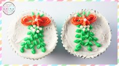 MISTLETOE CUPCAKES/ CHEFAST DECORATING SET REVIEW - SUGARCODER