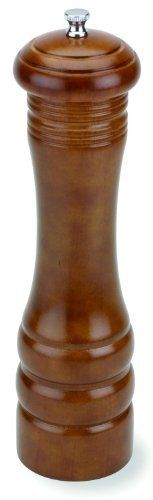 Olde Thompson 10-Inch Imperial Walnut Peppermill by Olde Thompson. $20.88. Wipe with Damp Cloth. Carbon Steel Grinder Peppermill. Walnut Finish. Adjustable Grinder from Coarse to Fine. Olde Thompson Imperial walnut peppermill is the perfect compliment to any kitchen or tabletop setting. Traditional design. This mill is used by chefs around the world.  Peppermill has carbon steel grinding mechanism that is fully adjustable from coarse to fine.  Measures 10-inch high.