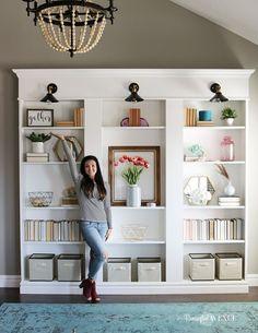 Ikea Billy Bookcase Library Hack - Remington Avenue (scheduled via http://www.tailwindapp.com?utm_source=pinterest&utm_medium=twpin&utm_content=post154059709&utm_campaign=scheduler_attribution)