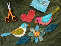 embroidered wool felt