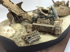 #scale #model #amazing #diorama #rust #dust #iraq #t55 #russian #modern #usarmy #scalemodels #war #iraqi #tank #mbt