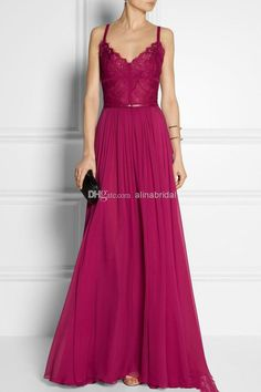 2016 Burgundy Long Evening Dress V Neck A Line Long Sweep Train Chiffon Sexy Backless Sash Maxi Party Gowns Modest Formal Gowns